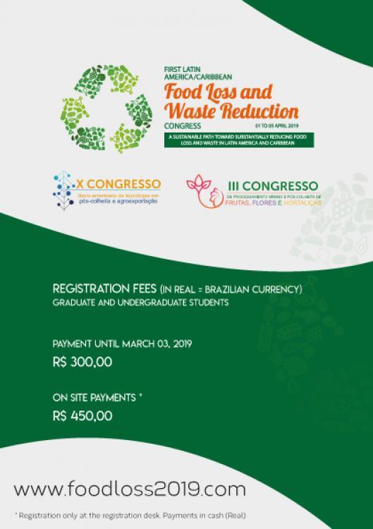 Food Loss será realizado em Abril de 2019 em Bento Gonçalves – RS